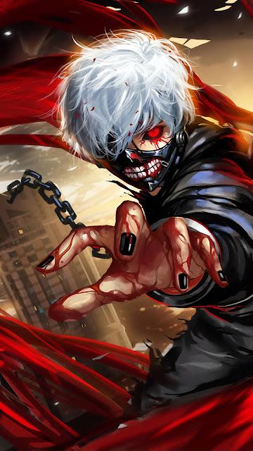 Papel de Parede Tokyo Ghoul, Anime, Hd, 4k.