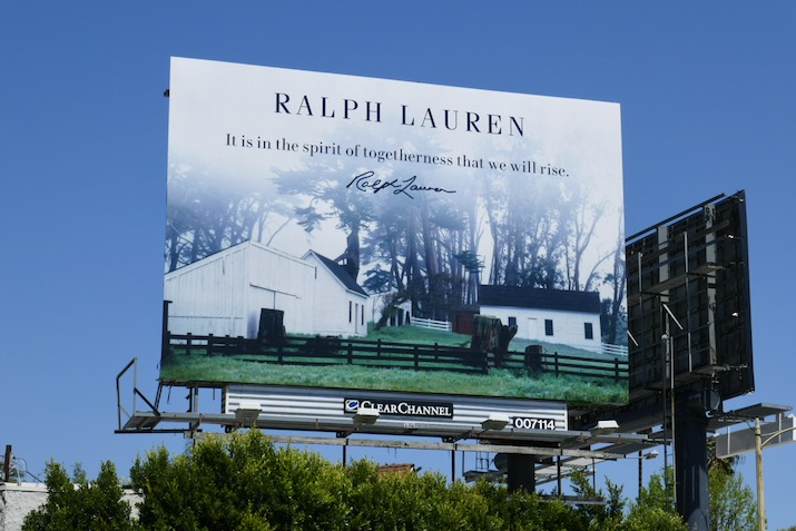 Ralph Lauren spirit of togetherness we rise billboard