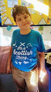 "Dan Jon in his ""It's a Scottish Thing"" T-shirt"