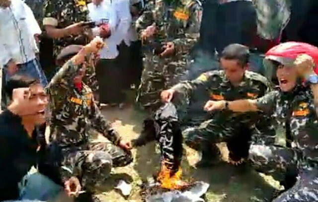 Polisi Kejar Pelaku Pembakaran Bendera Tauhid, Begini Proses Pemeriksaan Banser