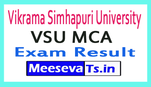 Vikrama Simhapuri University MCA Exam Results 2018