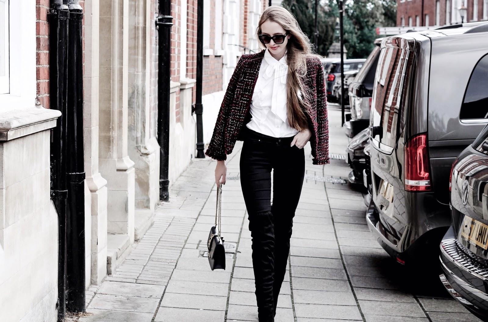 Styling Tweed Jacket Fashion Blog