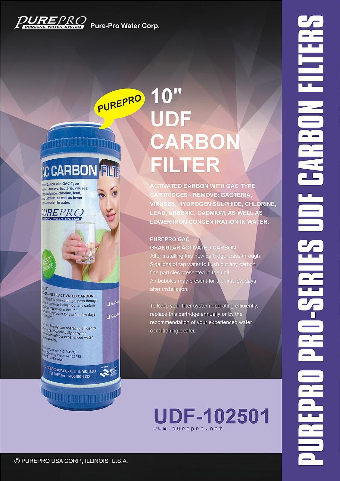 "PurePro® USA 10"" UDF Carbon Filter - PurePro UDF-102501"