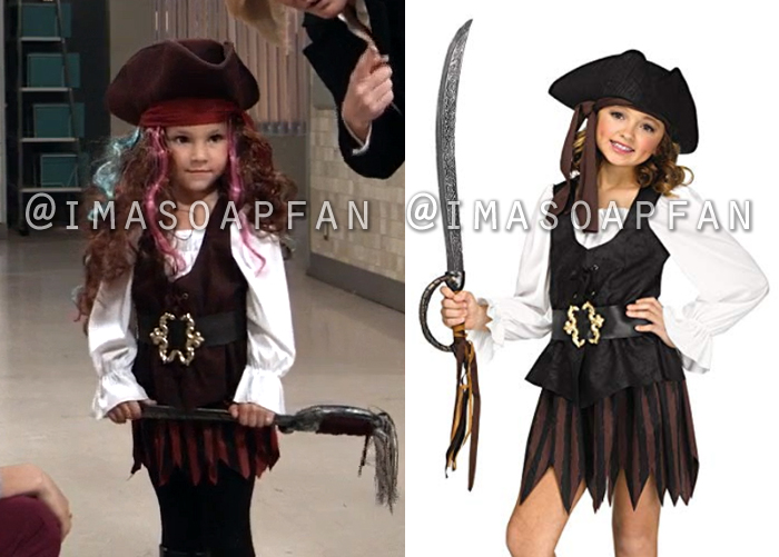 Avery Corinthos, Ava Scarola, Grace Scarola, Pirate Halloween Costume, General Hospital, GH