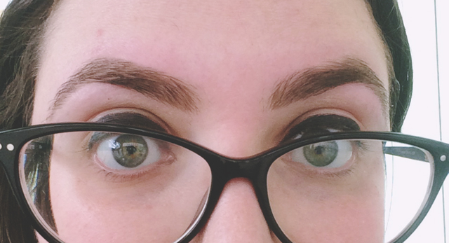 Eyebrow threading results