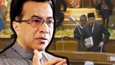 Husam Dihalau Dewan DUN Kelantan