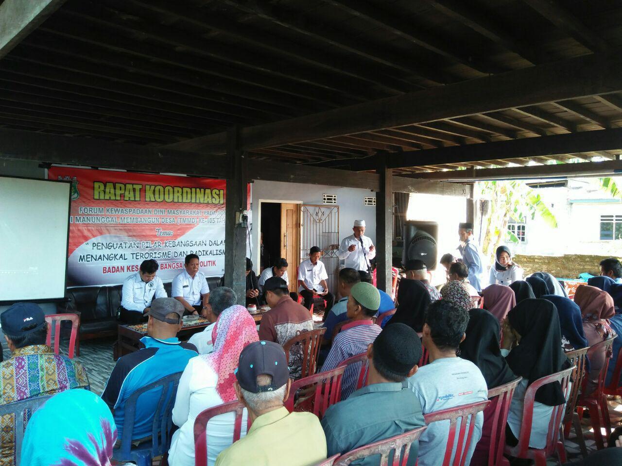 Waspada Dini Terorisme dan Radikalisme, Pemkab Pinrang Bekerjasama Satgas TMMD Gelar Rakor FKDM