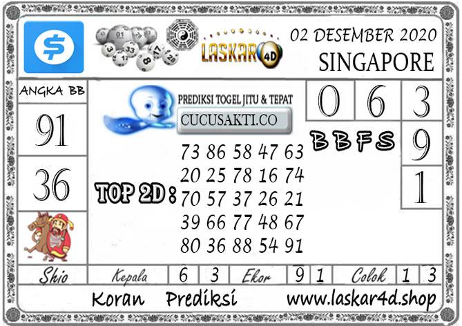 Prediksi Togel SINGAPORE LASKAR4D 02 DESEMBER 2020