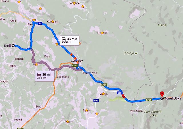 Google maps Kotli