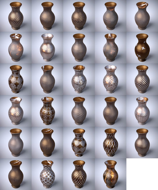 Ornate Glass Iray Shaders