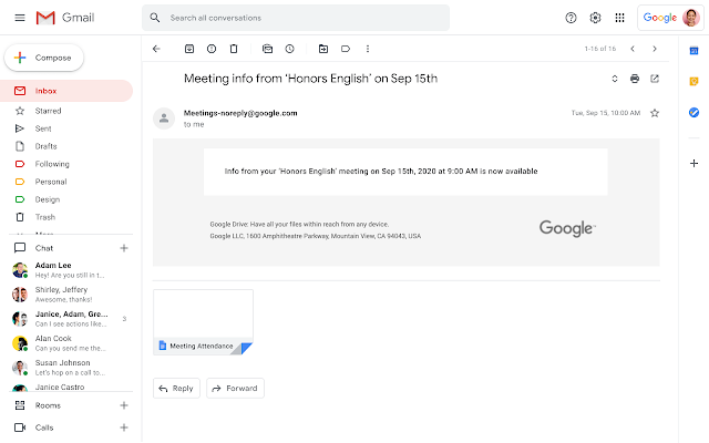 Google Meet attendance reports available now for education meetings 1