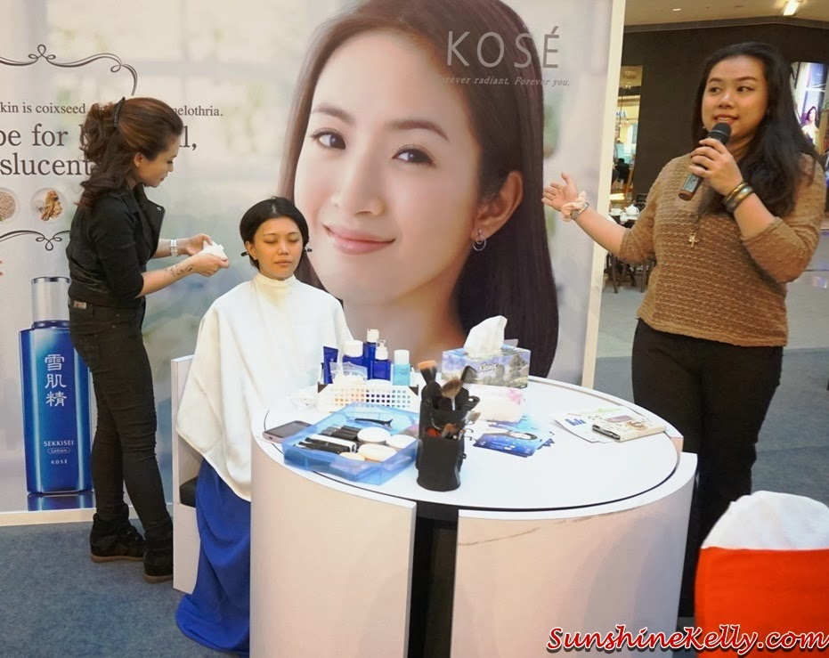 Kose, Kose Sekkisei, Kose Sekkisei Beauty Sharing with Mr Dobashi, Kose Japan, Sekkisei Lotion Mask, Beauty sharing, makeup, skincare, on stage, remove makeup