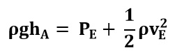SImplificando la ecuación de Bernoulli entre los putos A y E del ejemplo 2