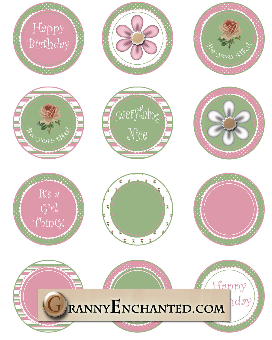 Happy Birthday Cake Toppers Printable