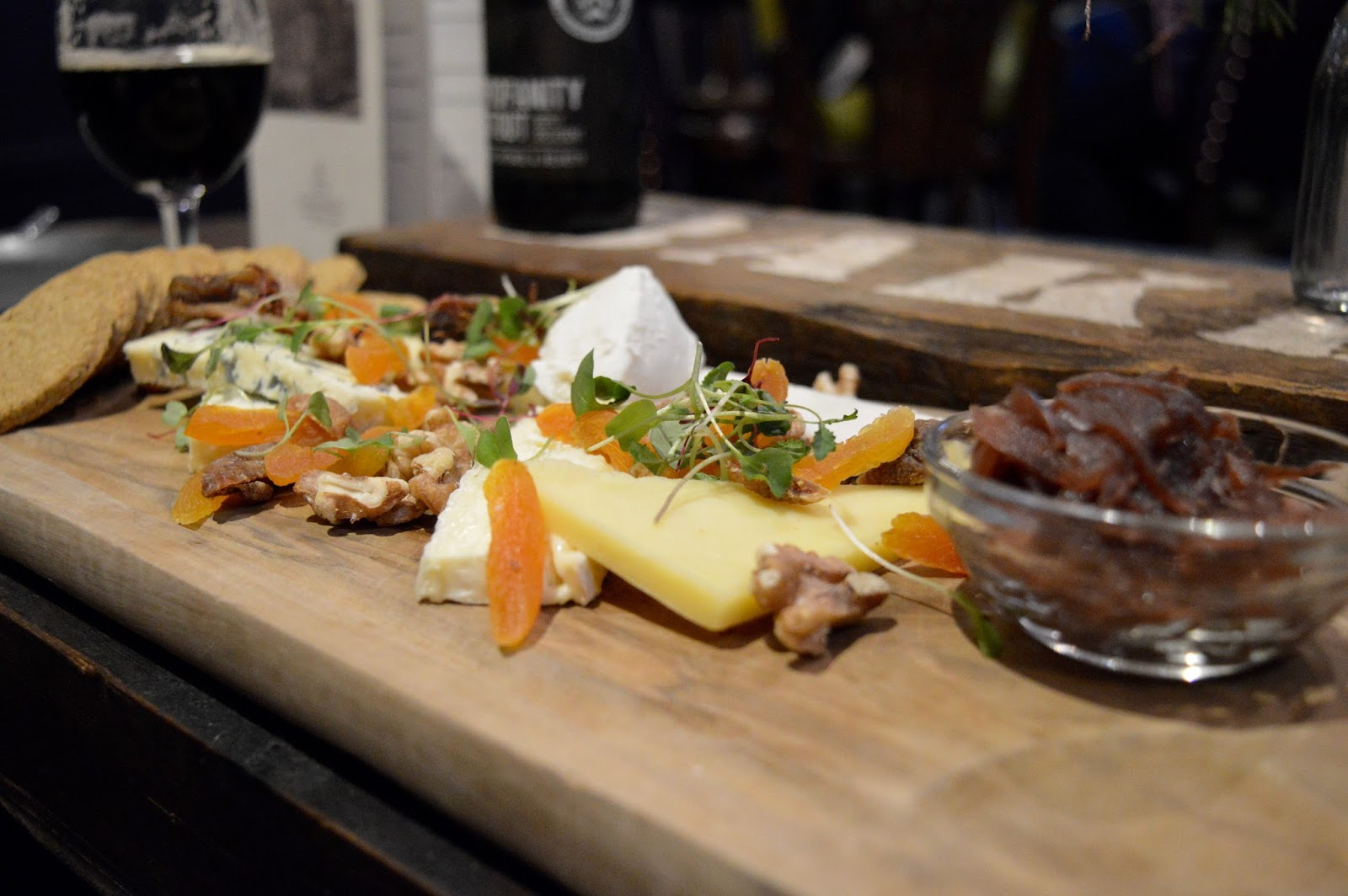 10 Reasons to Visit Edinburgh in December - Scottish cheese board at Contini