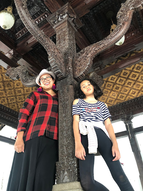 The teak wood carvings in Kasepuhan Palace, Cirebon