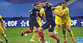 أكرانيا يفاجئ فرنسا هدف التعادل في تصفيات كأس العالم FIFA 2022  قطري