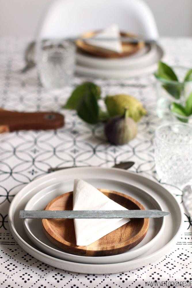 Tischdeko selber machen Herbst orientalisch Holz