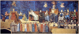 Alegoria do Bom programa de afiliados Governo - Gênios da Pintura ~ Estilo Gótico ~ Ambrogio de Lorenzetti