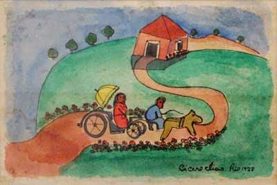 Viagem de Charrete - Cícero Dias e suas principais pinturas ~ Pintor pernambucano