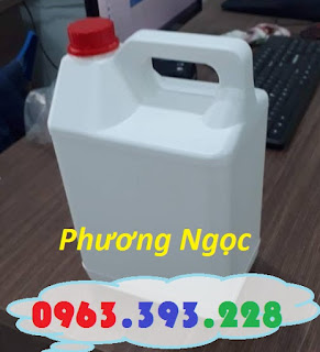 Can nhựa 5 Lít, can đựng hóa chất, can nhựa HDPE nguyên sinh 5L6