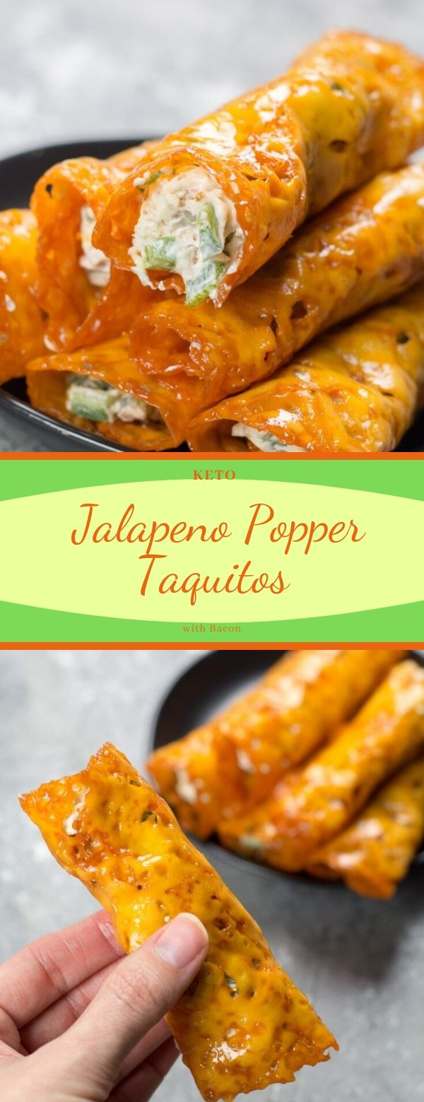 Keto Jalapeno Popper Taquitos with Bacon