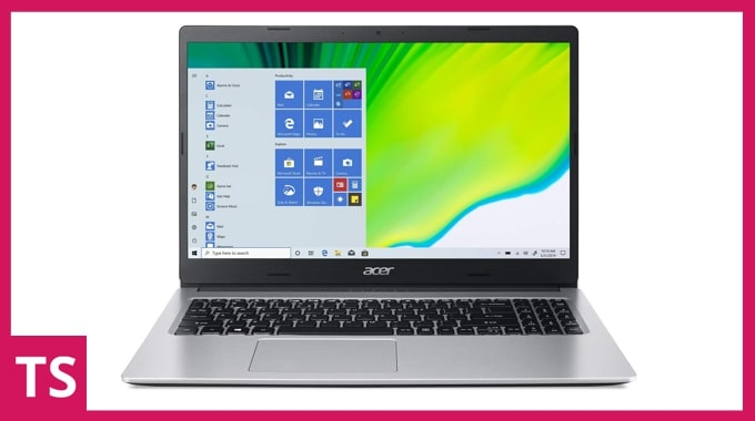 Acer Aspire 3 A315-23 laptop. (Image credit: Acer)