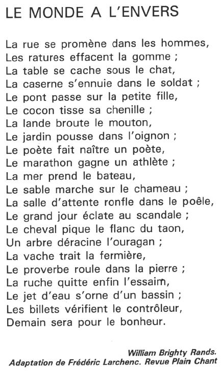 Fabulo Poeme Un Peu Fou