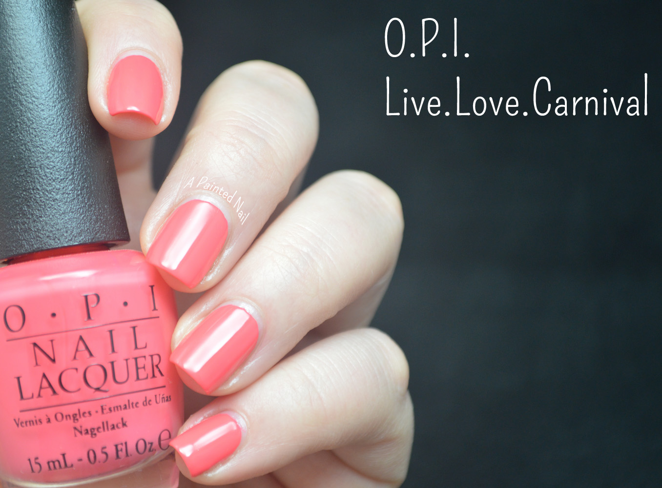 a painted nail o p i live love carnival spring summer color trend