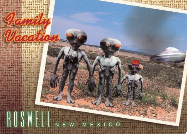 Best My Favorite Funny Postcards: Roswell, New Mexico: Alien Vacation CP75