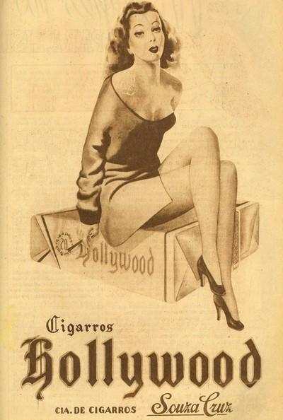 Propaganda da Hollywood promovendo seu cigarro com apelo sensual em 1947
