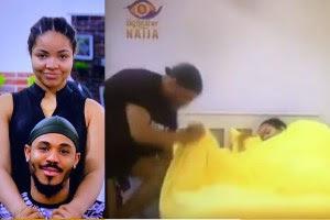 BBNaija: Ozo And Nengi Caught Fl**t**g In Bed Yesternight (Video)