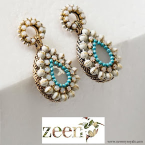 Kate Middleton wore Zeen Beaded Chandelier earrings