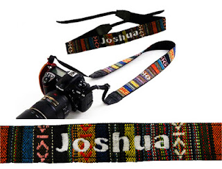 Camera Strap With personalised name embroidery