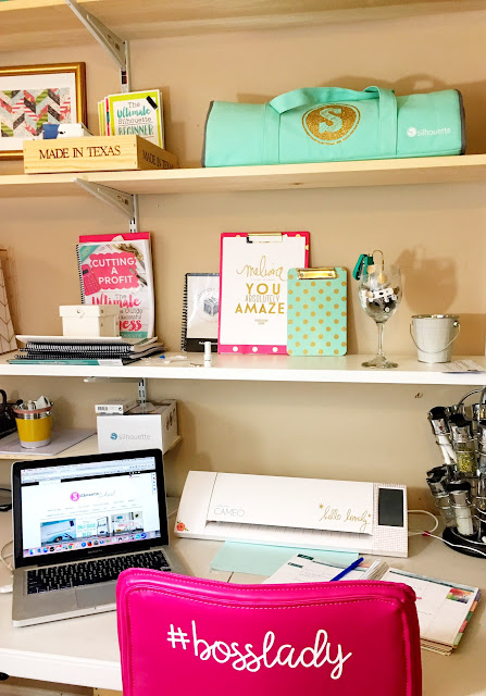 craft room organization, craft room storage, storing silhouette cameo machines