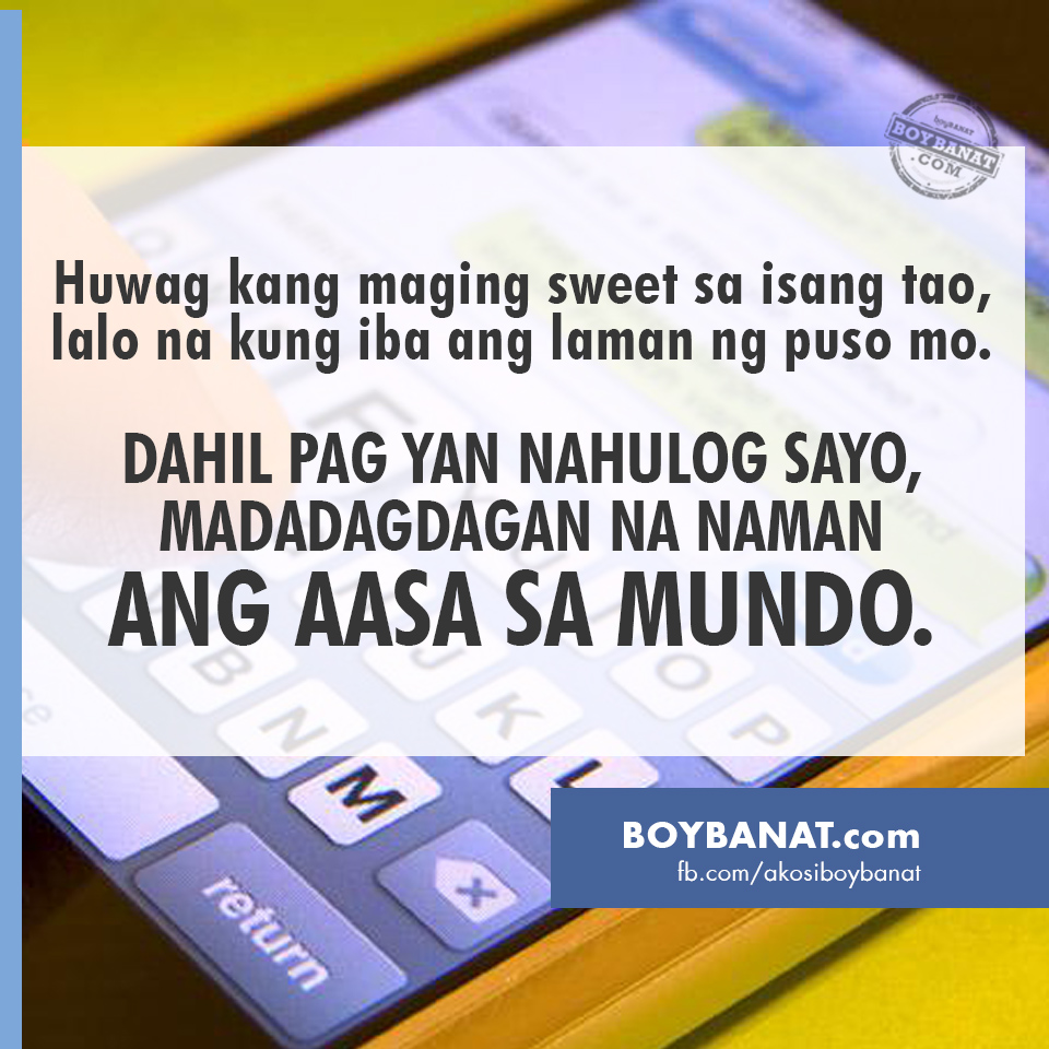 Sweet text message for boyfriend tagalog