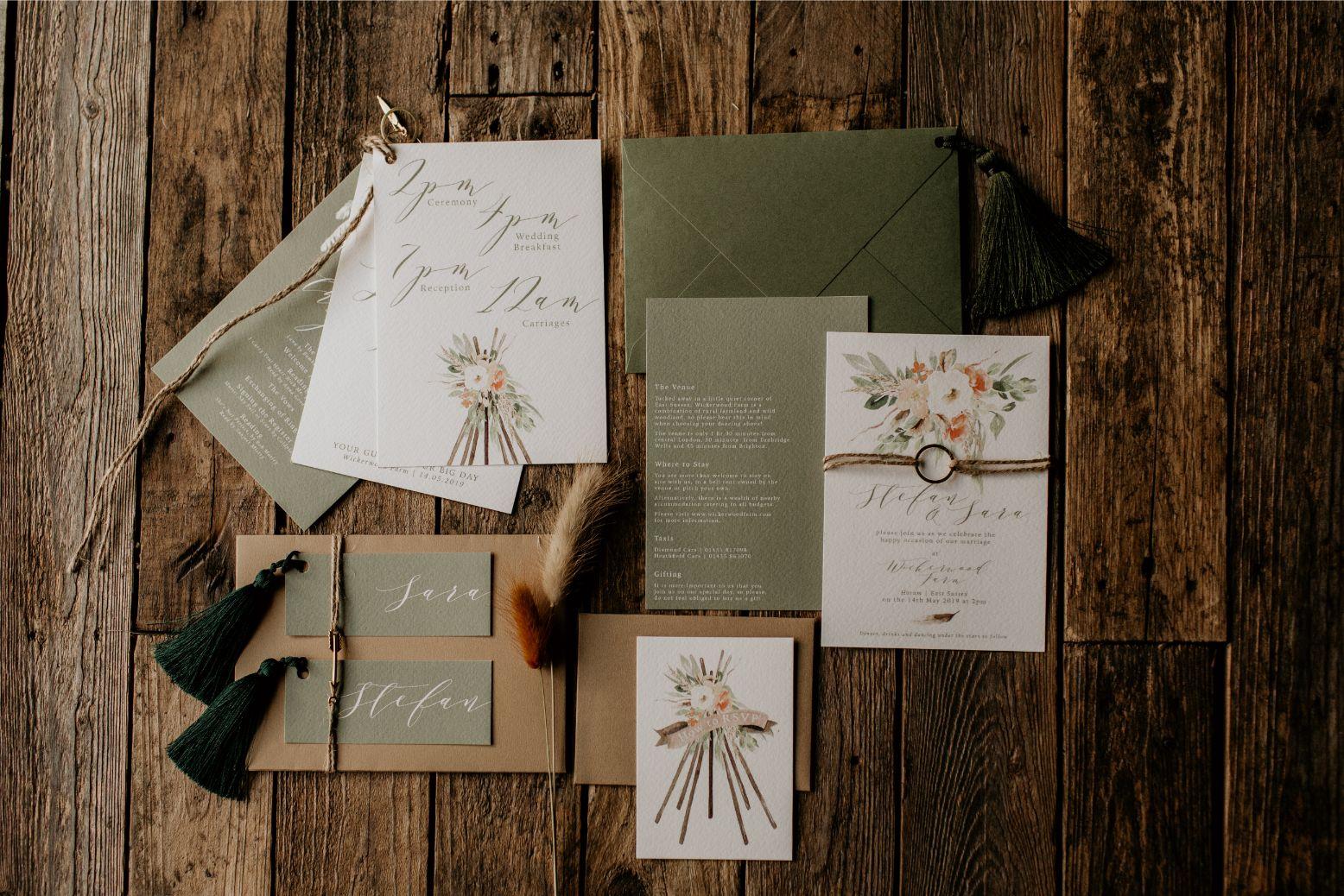 elena popa photography stationery wedding invitations invites menus signage