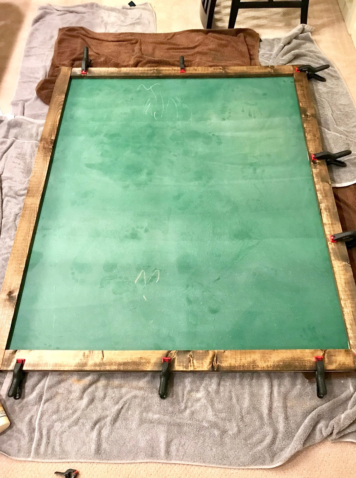 DIY Oversized Chalkboard RR At Home - Pool table chalk board