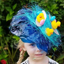 how to make a surfing duck easter hat parade headband DIY tutorial
