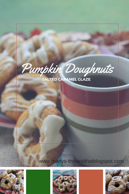 Pumpkin Doughnuts with Salted Caramel Glaze that are baked not fried.