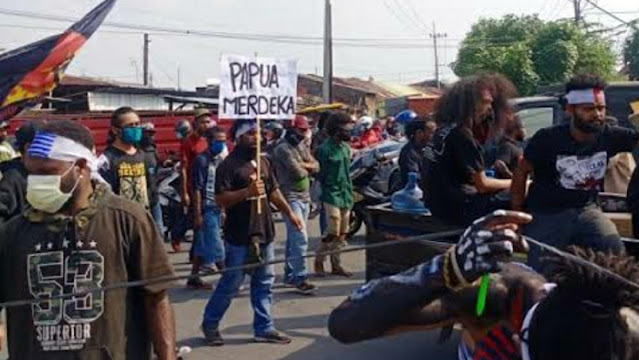 """Demo """"Papua Merdeka"""" di Surabaya, Netizen Pertanyakan Dimana Banser Sang Penjaga NKRI"""