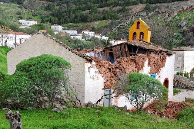 Κατέρρευσε εκκλησία στην Ύδρα