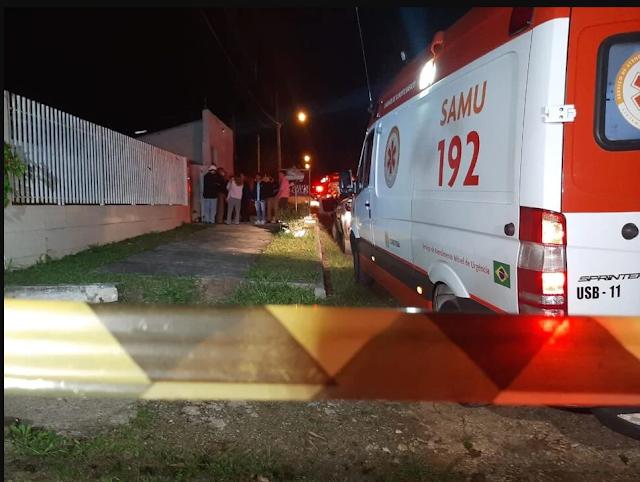 Churrasco no Jd. Palmares em Colombo termina com um morto e três feridos