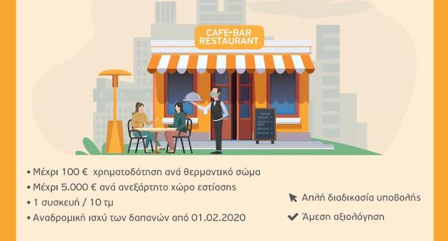 Επιμελητήριο Αργολίδας: Παρουσίαση της δράσης επιχορήγησης επιχειρήσεων εστίασης με θερμαντικά σώματα
