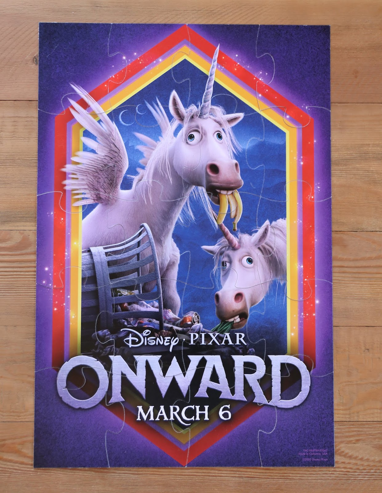 Pixar Onward Disney Store unicorn puzzle Pixar Onward Disney Store unicorn puzzle