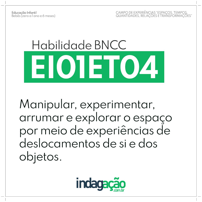 Habilidade EI01ET04 BNCC