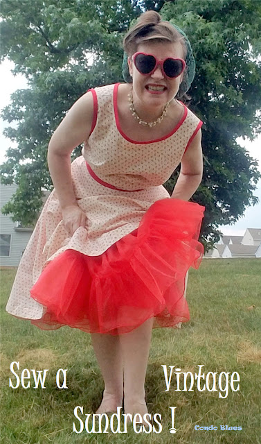 how to sew a 1950's wrap sundress