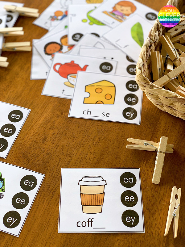 Digraph Clip Cards | you clever monkey