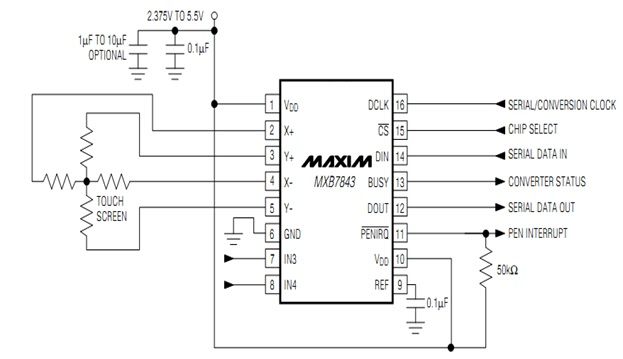 how to interface and program touch screen controller (mxb7843) with microcontroller (pic18f452 ... plasma screen wiring diagram elite screen wiring diagram