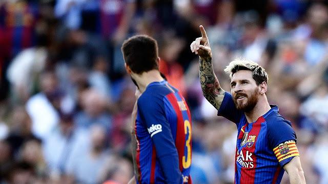 Fútbol: Tras horrar a víctimas de atentados, Barcelona gana